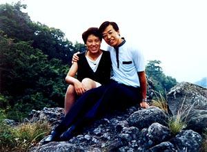 妻・百合子と(1985年)
